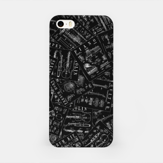 Thumbnail image of Musical Instrument Vintage Patent Pattern iPhone Case, Live Heroes