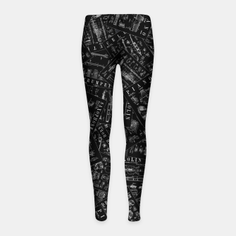 Thumbnail image of Musical Instrument Vintage Patent Pattern Girl's leggings, Live Heroes