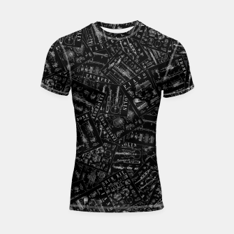 Thumbnail image of Musical Instrument Vintage Patent Pattern Shortsleeve rashguard, Live Heroes
