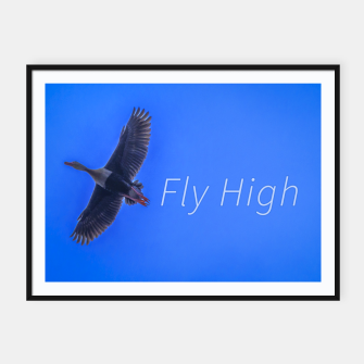 Miniaturka Fly High Concept Photography Framed poster, Live Heroes