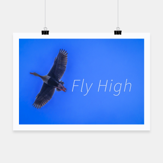 Miniaturka Fly High Concept Photography Poster, Live Heroes