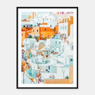Thumbnail image of Santorini Vacay Framed poster, Live Heroes