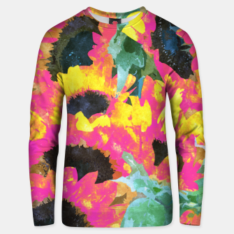 Pink Sunflower Unisex sweater thumbnail image