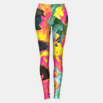 Pink Sunflower Leggings thumbnail image