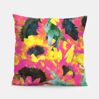 Pink Sunflower Pillow thumbnail image