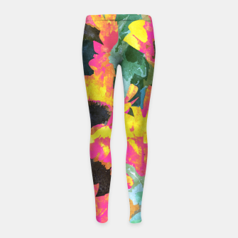 Thumbnail image of Pink Sunflower Girl's leggings, Live Heroes