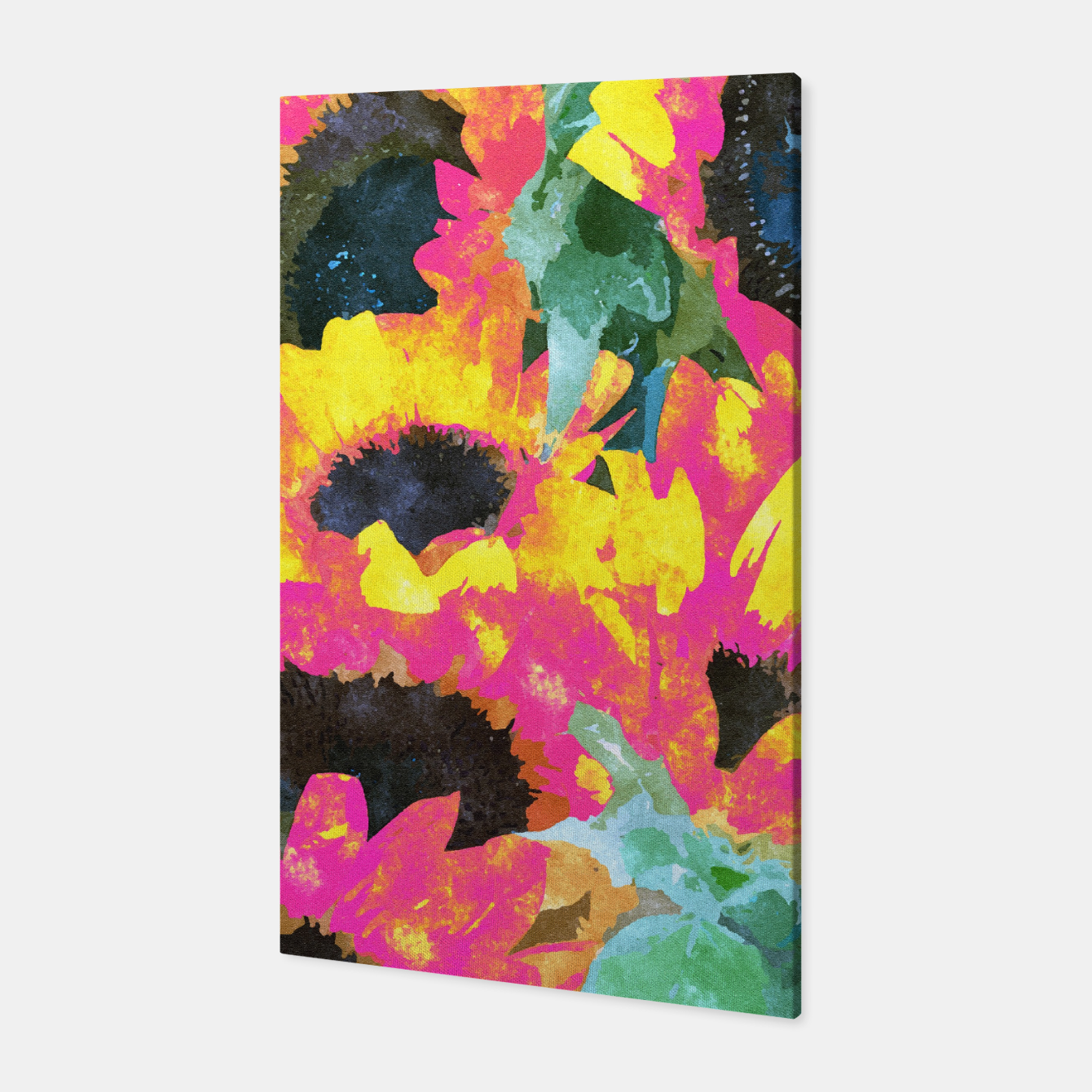 Image of Pink Sunflower Canvas - Live Heroes