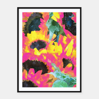 Pink Sunflower Framed poster thumbnail image
