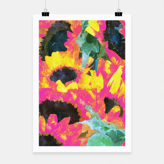 Thumbnail image of Pink Sunflower Poster, Live Heroes