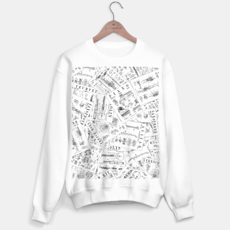 Musical Instrument Vintage Patent Pattern II Sweater regular thumbnail image