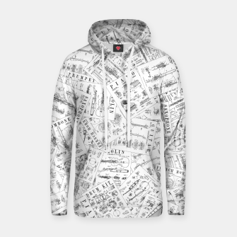 Thumbnail image of Musical Instrument Vintage Patent Pattern II Hoodie, Live Heroes