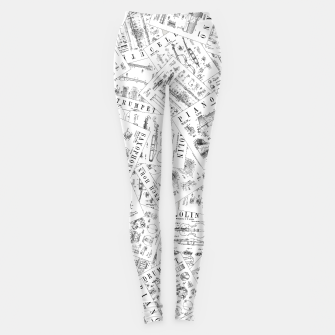 Thumbnail image of Musical Instrument Vintage Patent Pattern II Leggings, Live Heroes