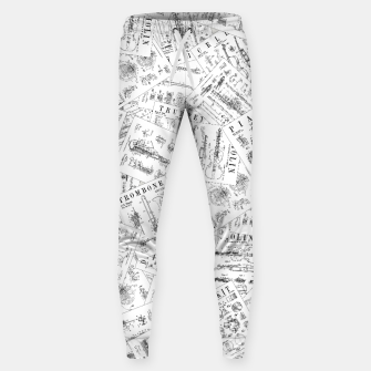Thumbnail image of Musical Instrument Vintage Patent Pattern II Sweatpants, Live Heroes