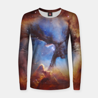 Galaxy Nebula Women sweater obraz miniatury
