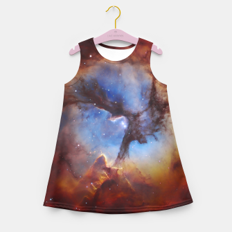 Galaxy Nebula Girl's summer dress obraz miniatury