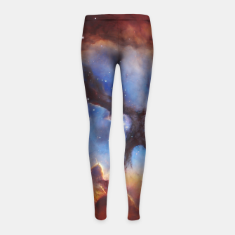 Galaxy Nebula Girl's leggings obraz miniatury