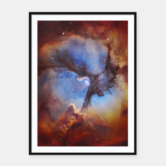 Thumbnail image of Galaxy Nebula Framed poster, Live Heroes