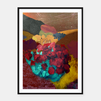 Thumbnail image of One flower Framed poster, Live Heroes