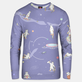 Thumbnail image of Weird Unicorn Cat in Space Unisex sweater, Live Heroes