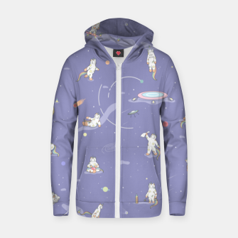 Thumbnail image of Weird Unicorn Cat in Space Zip up hoodie, Live Heroes