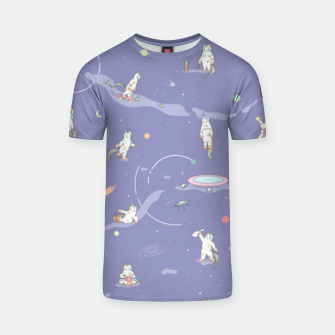 Miniatur Weird Unicorn Cat in Space T-shirt, Live Heroes