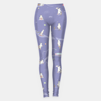 Thumbnail image of Weird Unicorn Cat in Space Leggings, Live Heroes