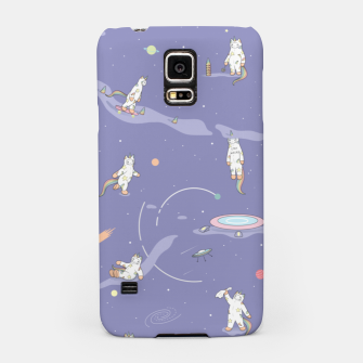 Miniatur Weird Unicorn Cat in Space Samsung Case, Live Heroes