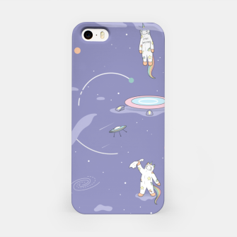 Miniatur Weird Unicorn Cat in Space iPhone Case, Live Heroes