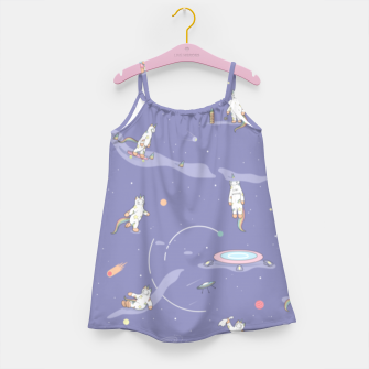 Miniatur Weird Unicorn Cat in Space Girl's dress, Live Heroes