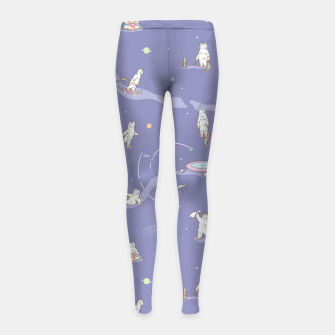 Miniatur Weird Unicorn Cat in Space Girl's leggings, Live Heroes