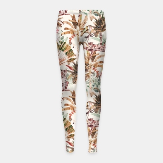 Thumbnail image of Wild jungle 79 Leggings para niña, Live Heroes