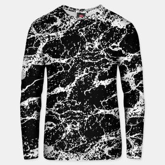 Black and White Abstract Textured Print Unisex sweater miniature