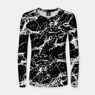 Black and White Abstract Textured Print Women sweater miniature