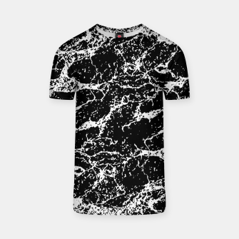 Black and White Abstract Textured Print T-shirt miniature