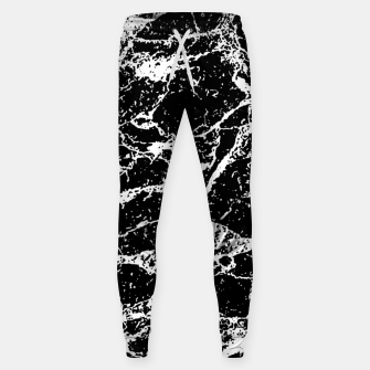 Black and White Abstract Textured Print Sweatpants miniature