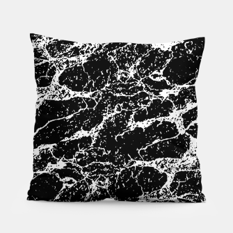 Black and White Abstract Textured Print Pillow miniature