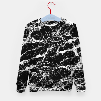 Black and White Abstract Textured Print Kid's sweater miniature