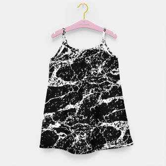Black and White Abstract Textured Print Girl's dress miniature
