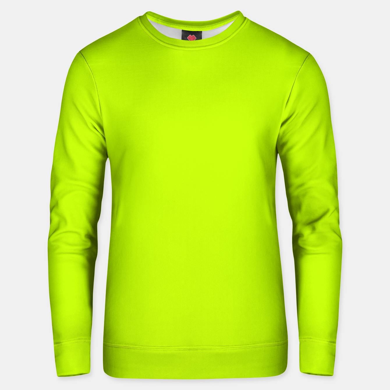 Foto Bitter Lime Neon Green Yellow Solid Color Unisex sweater - Live Heroes