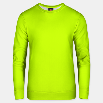 Bitter Lime Neon Green Yellow Solid Color Unisex sweater imagen en miniatura