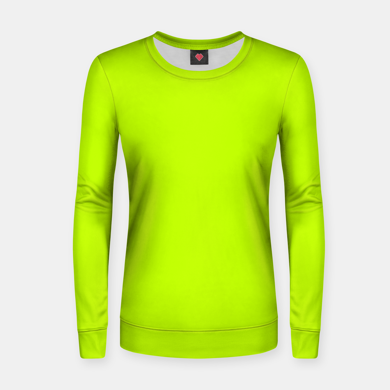 Imagen de Bitter Lime Neon Green Yellow Solid Color Women sweater - Live Heroes