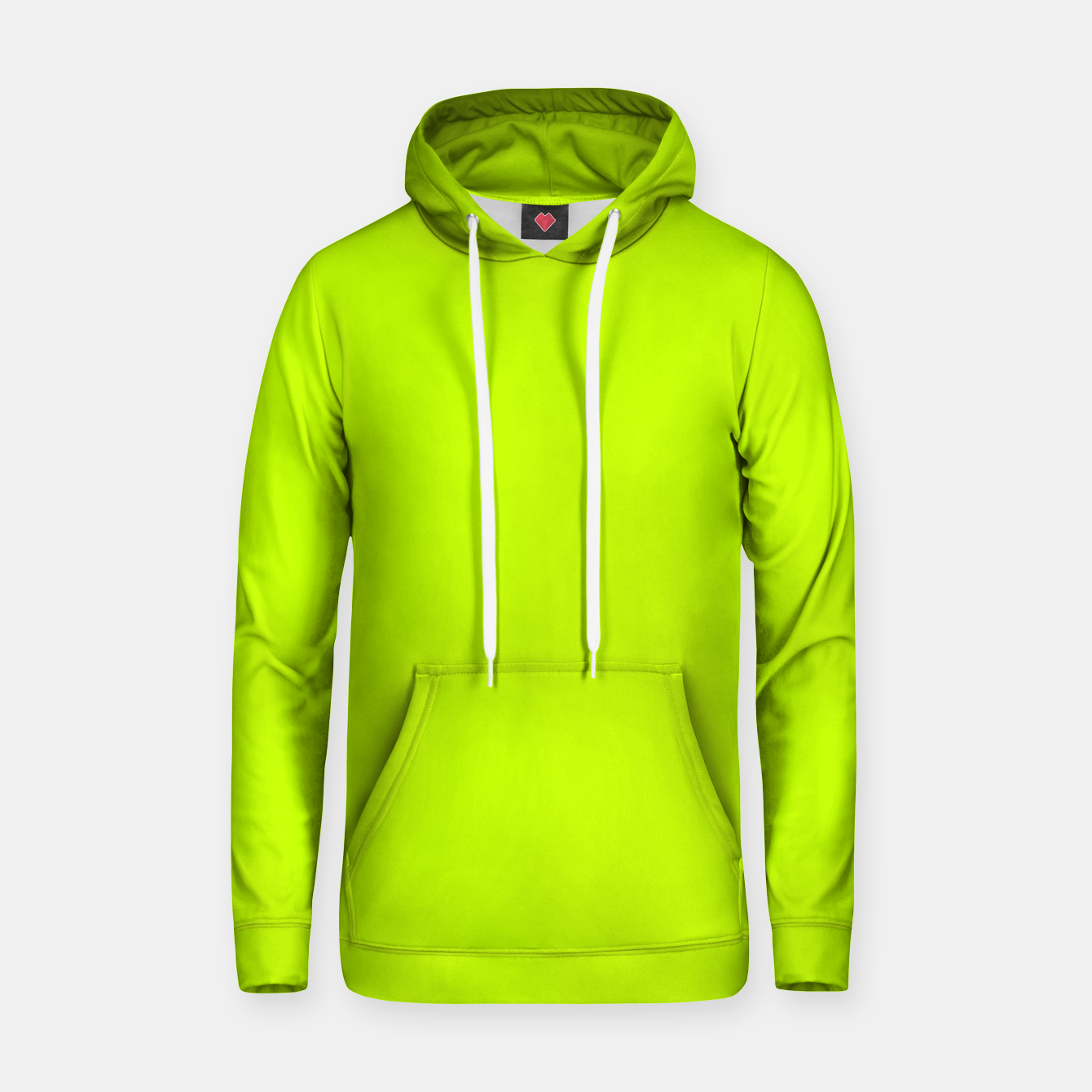 Foto Bitter Lime Neon Green Yellow Solid Color Hoodie - Live Heroes