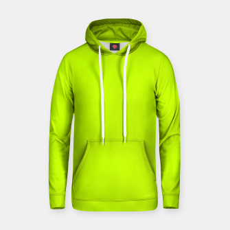 Bitter Lime Neon Green Yellow Solid Color Hoodie imagen en miniatura