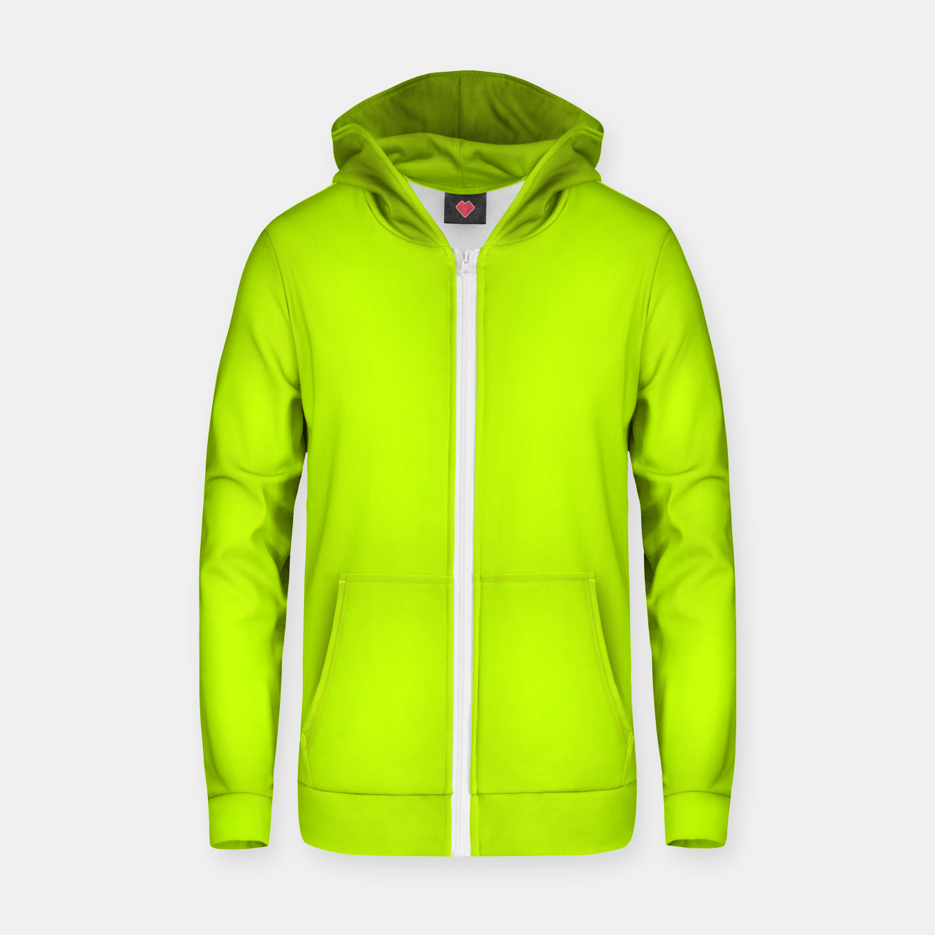 Foto Bitter Lime Neon Green Yellow Solid Color Zip up hoodie - Live Heroes