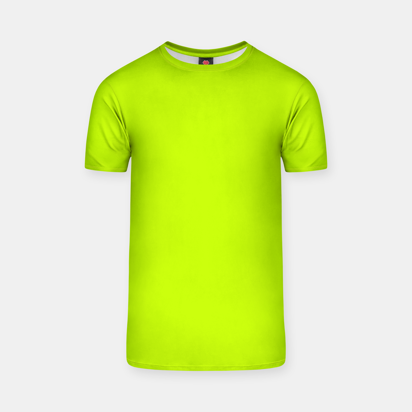 Foto Bitter Lime Neon Green Yellow Solid Color T-shirt - Live Heroes