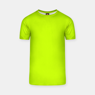 Imagen en miniatura de Bitter Lime Neon Green Yellow Solid Color T-shirt, Live Heroes