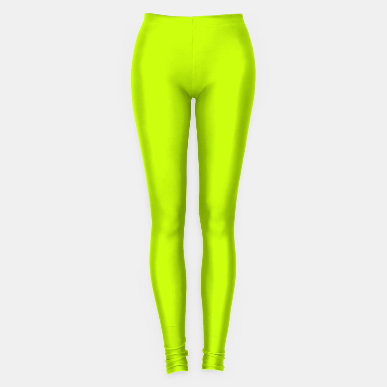 Imagen de Bitter Lime Neon Green Yellow Solid Color Leggings - Live Heroes