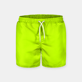 Miniatur Bitter Lime Neon Green Yellow Solid Color Swim Shorts, Live Heroes