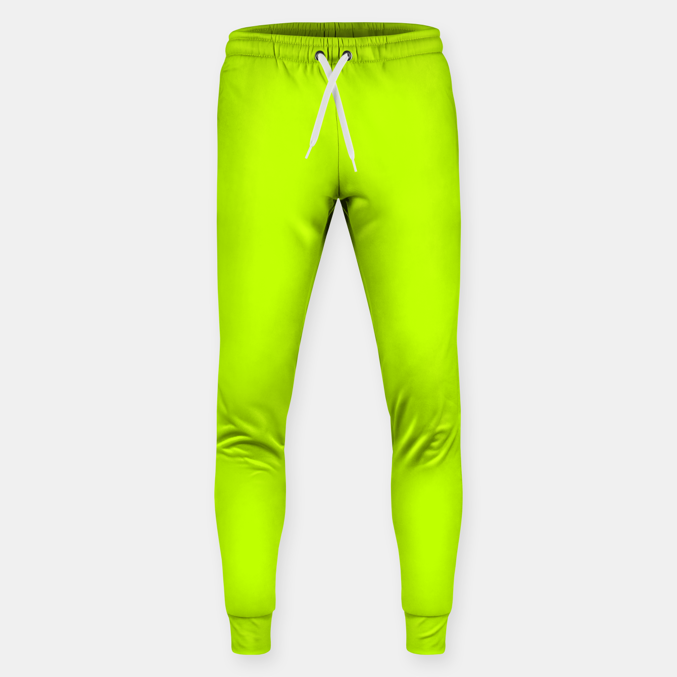 Foto Bitter Lime Neon Green Yellow Solid Color Sweatpants - Live Heroes