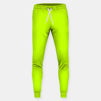 Imagen en miniatura de Bitter Lime Neon Green Yellow Solid Color Sweatpants, Live Heroes